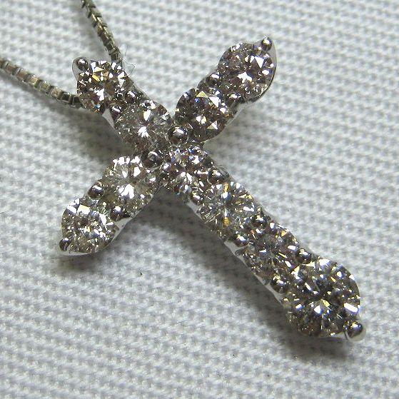 プラチナ900製 ダイヤモンドネックレス