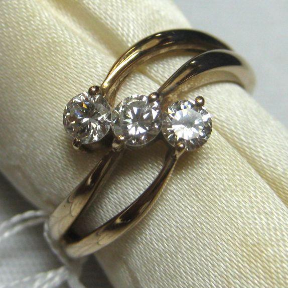 K18ピンクゴールド ダイヤモンド指輪