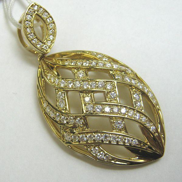K18イエローゴールド ダイヤモンドペンダント