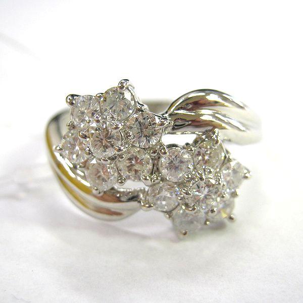 プラチナ900製 ダイヤモンド指輪