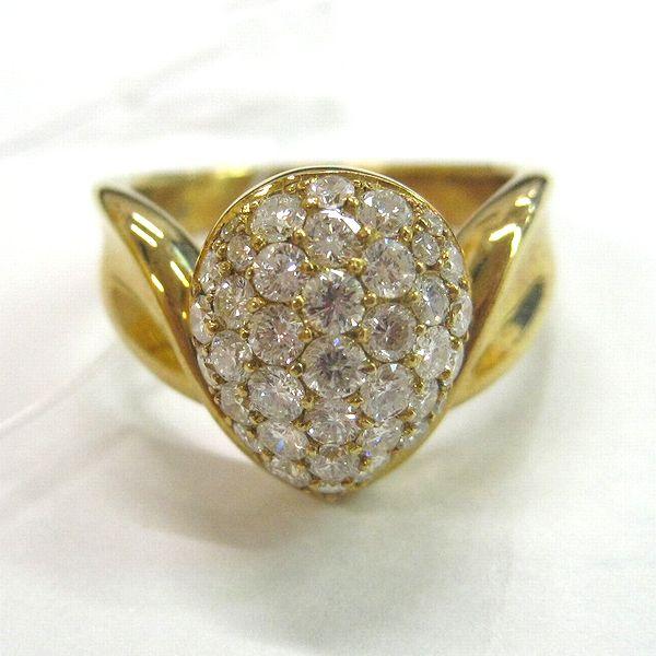 K18イエローゴールド ダイヤモンド指輪
