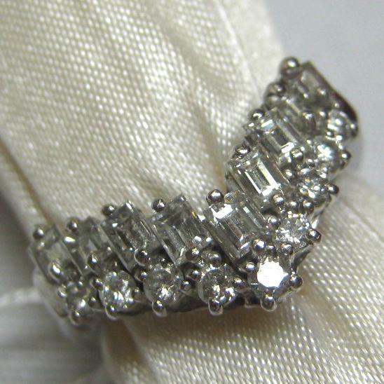 プラチナ900 ダイヤモンド指輪
