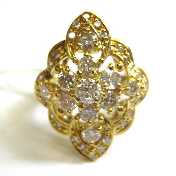K18イエローゴールド ダイヤモンドリング